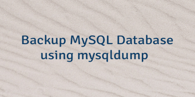 Backup MySQL Database using mysqldump