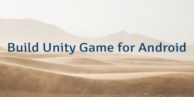 Build Unity Game for Android