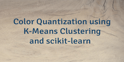 Color Quantization using K-Means Clustering and scikit-learn