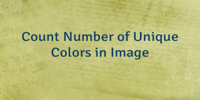 Count Number of Unique Colors in Image