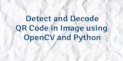 Detect and Decode QR Code in Image using OpenCV and Python