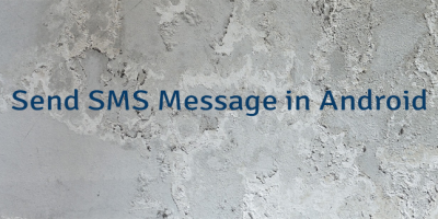 Send SMS Message in Android