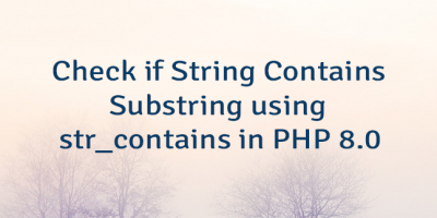 Check if String Contains Substring using str_contains in PHP 8.0