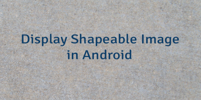 Display Shapeable Image in Android