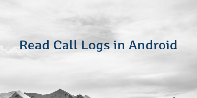 Read Call Logs in Android