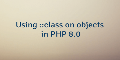 Using ::class on objects in PHP 8.0