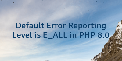 Default Error Reporting Level is E_ALL in PHP 8.0