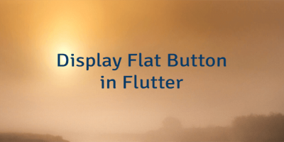 Display Flat Button in Flutter