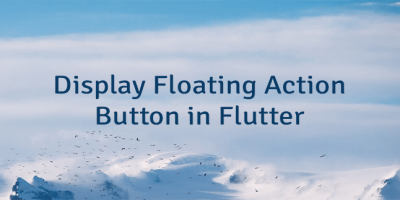 Display Floating Action Button in Flutter