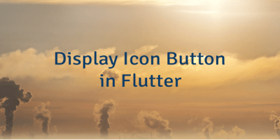 Display Icon Button in Flutter