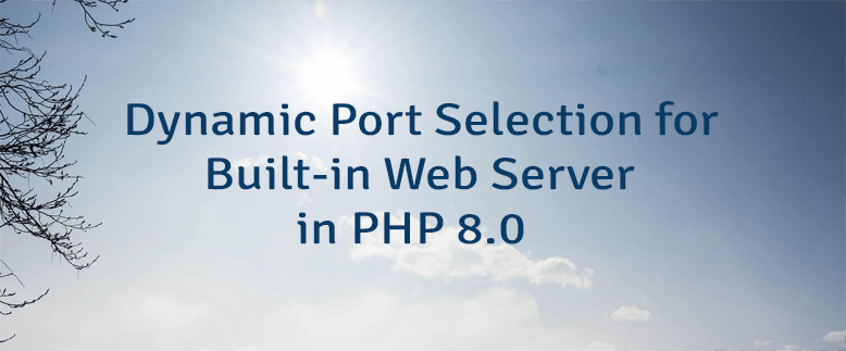 Dynamic Port Selection for Built-in Web Server in PHP 8.0