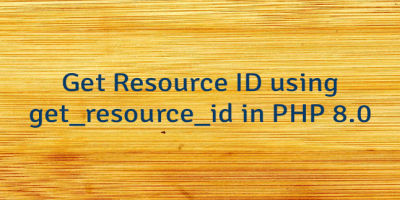 Get Resource ID using get_resource_id in PHP 8.0