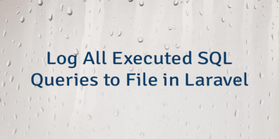 Log All Executed SQL Queries to File in Laravel