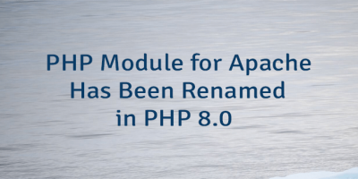 PHP Module for Apache Has Been Renamed in PHP 8.0