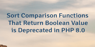 Sort Comparison Functions That Return Boolean Value is Deprecated in PHP 8.0