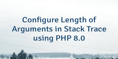 Configure Length of Arguments in Stack Trace using PHP 8.0