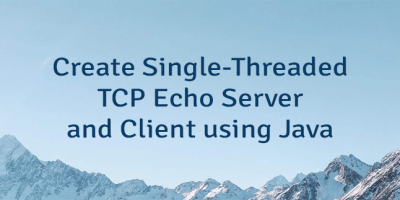 Create Single-Threaded TCP Echo Server and Client using Java