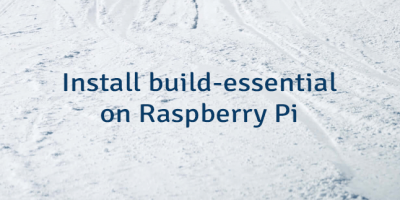 Install build-essential on Raspberry Pi