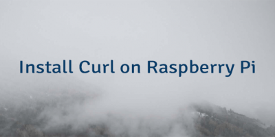 Install Curl on Raspberry Pi