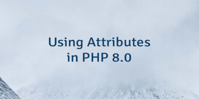 Using Attributes in PHP 8.0