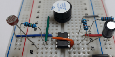 Darkness Detector with Beep Alarm Using LDR and 555 Timer