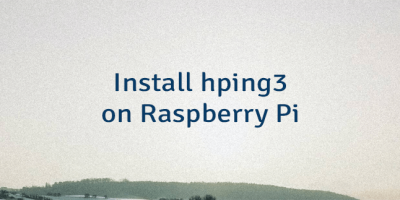 Install hping3 on Raspberry Pi