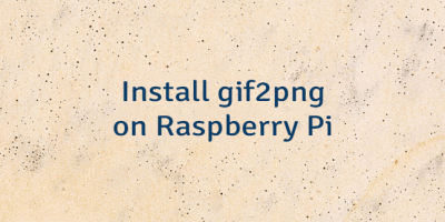 Install gif2png on Raspberry Pi