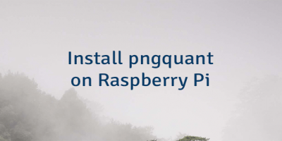 Install pngquant on Raspberry Pi
