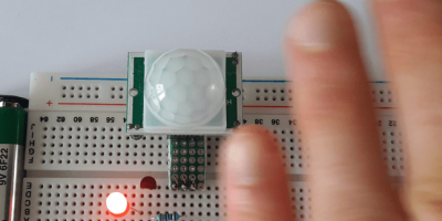 Motion Controlled LED Using HC-SR501 PIR Sensor and BC547 Transistor