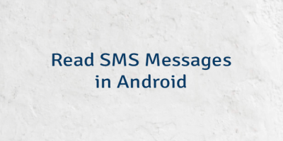 Read SMS Messages in Android