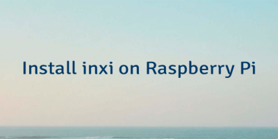 Install inxi on Raspberry Pi