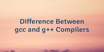 Difference Between gcc and g++ Compilers