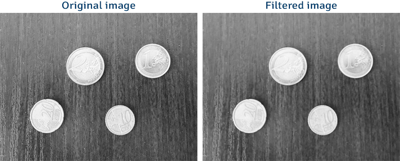 Image filtering using bilateral filter and OpenCV