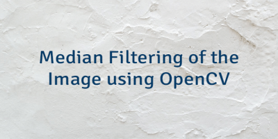 Median Filtering of the Image using OpenCV
